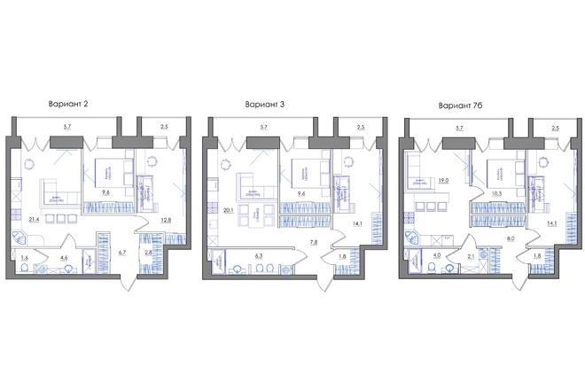 Планировка квартиры или жилого дома, перепланировка и визуализация 89 - kwork.ru