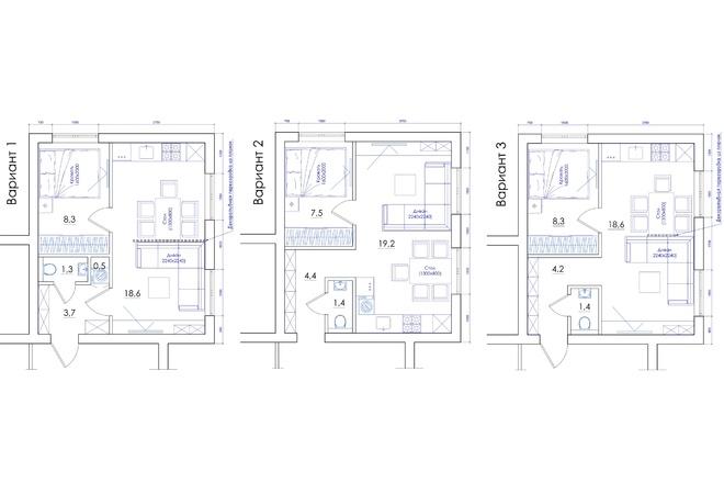 Планировка квартиры или жилого дома, перепланировка и визуализация 71 - kwork.ru
