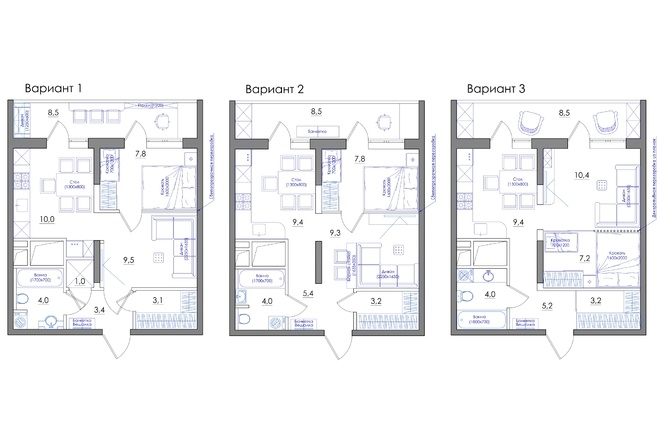 Планировка квартиры или жилого дома, перепланировка и визуализация 70 - kwork.ru