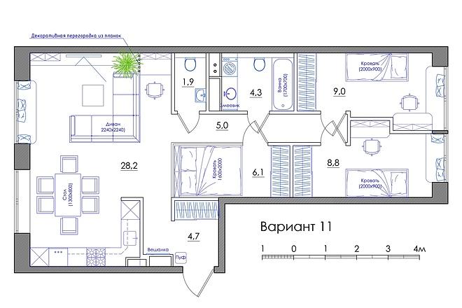 Планировка квартиры или жилого дома, перепланировка и визуализация 59 - kwork.ru