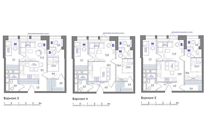 Планировка квартиры или жилого дома, перепланировка и визуализация 62 - kwork.ru