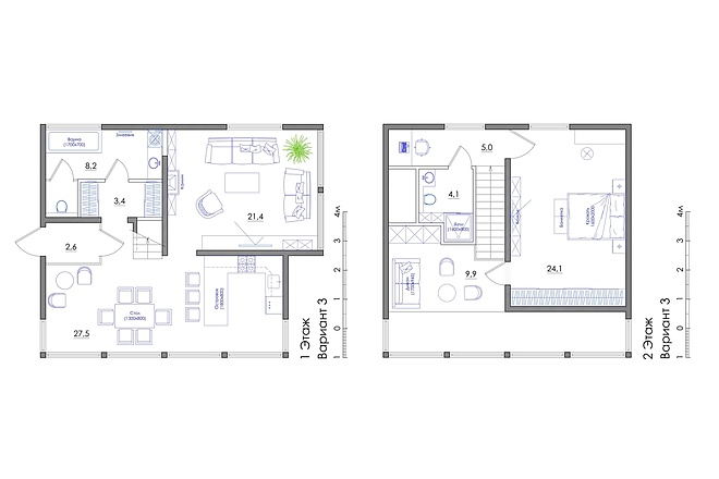 Планировка квартиры или жилого дома, перепланировка и визуализация 53 - kwork.ru
