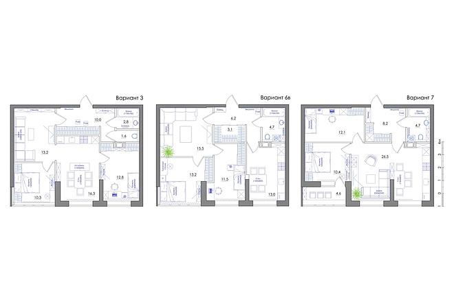 Планировка квартиры или жилого дома, перепланировка и визуализация 52 - kwork.ru