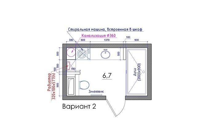 Планировка квартиры или жилого дома, перепланировка и визуализация 51 - kwork.ru