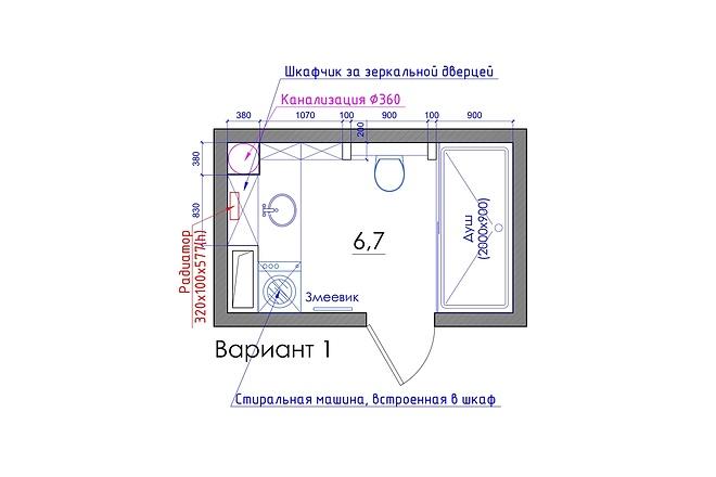 Планировка квартиры или жилого дома, перепланировка и визуализация 49 - kwork.ru