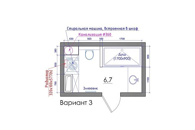 Планировка квартиры или жилого дома, перепланировка и визуализация 50 - kwork.ru