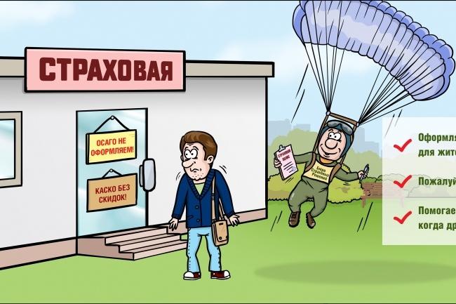 Нарисую для Вас иллюстрации в жанре карикатуры 105 - kwork.ru
