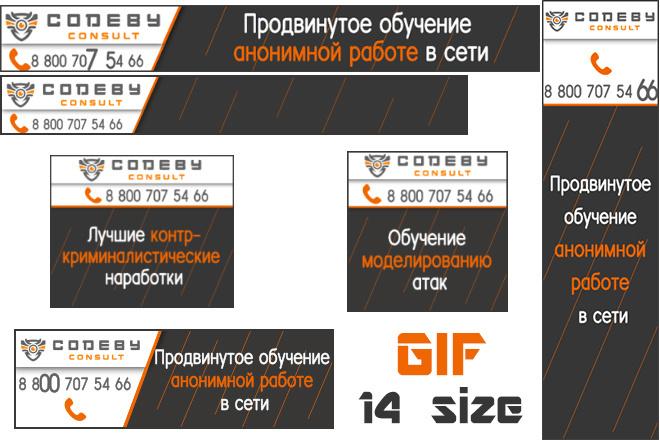 Сделаю 2 качественных gif баннера 101 - kwork.ru