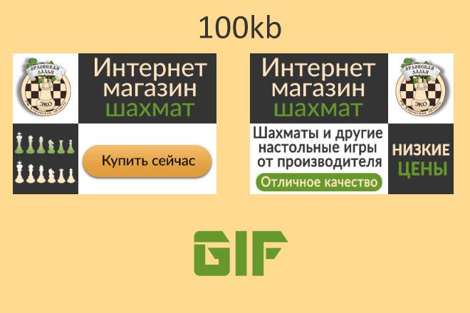 Сделаю 2 качественных gif баннера 99 - kwork.ru