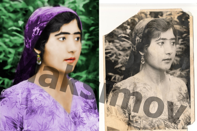 Реставрация фотографии, из чб в цветной, коррекция, восстановление 1 - kwork.ru