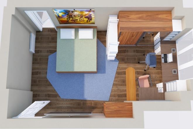 Создам планировку дома, квартиры с мебелью 29 - kwork.ru