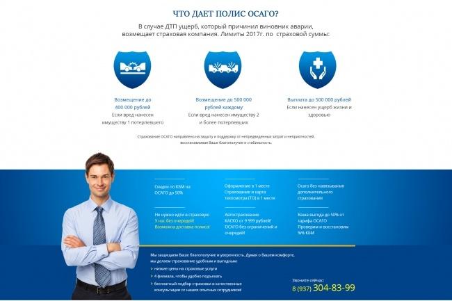 Дизайн страницы Landing Page - Профессионально 87 - kwork.ru