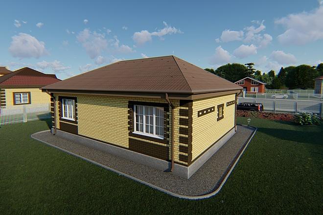 Фотореалистичная 3D визуализация экстерьера Вашего дома 169 - kwork.ru
