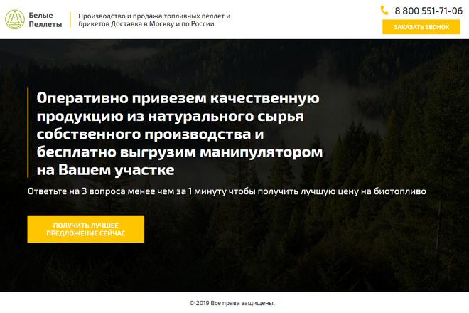 Landing Page с 0 + дизайн 60 - kwork.ru