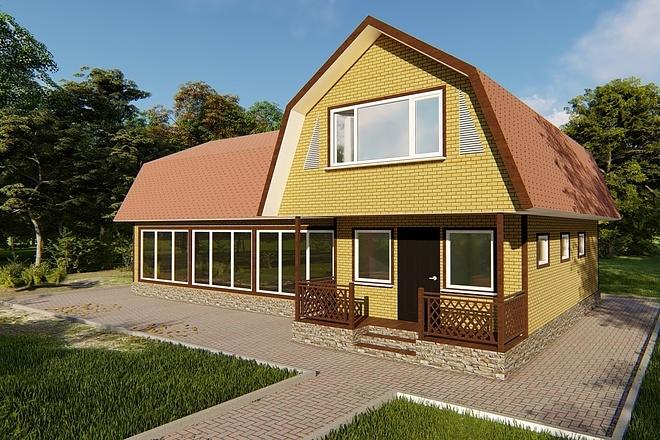 Фотореалистичная 3D визуализация экстерьера Вашего дома 152 - kwork.ru