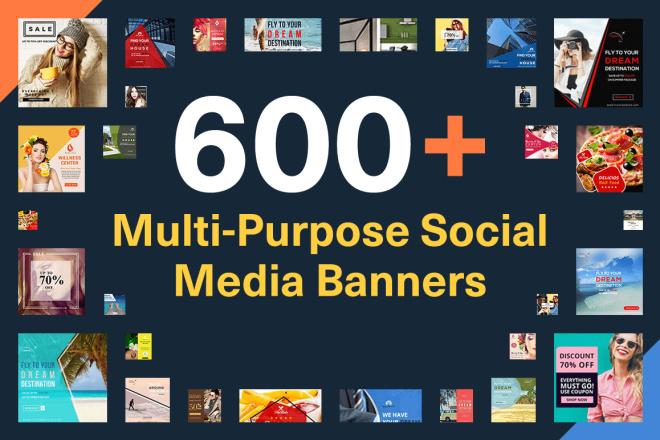 600+ Шаблонов для Instagram, Facebook, Twitter и Pinterest 1 - kwork.ru