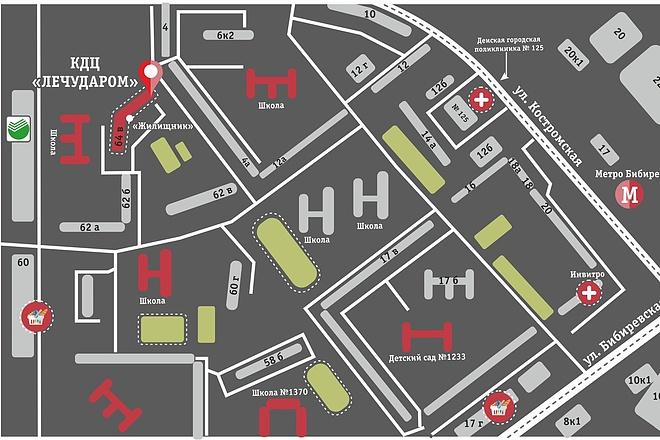Карты и схемы проезда 13 - kwork.ru
