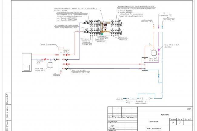 Проектирование отопления и вентиляции коттеджа 6 - kwork.ru