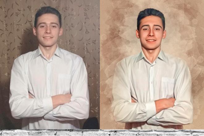 Нарисую портрет по фото в стиле диджитал арт 1 - kwork.ru