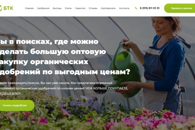 Сделаю классный Лендинг на Elementor Pro 6 - kwork.ru