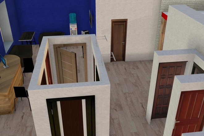 Дизайн придомовой территории в восточном стиле с воротами Тории 4 - kwork.ru