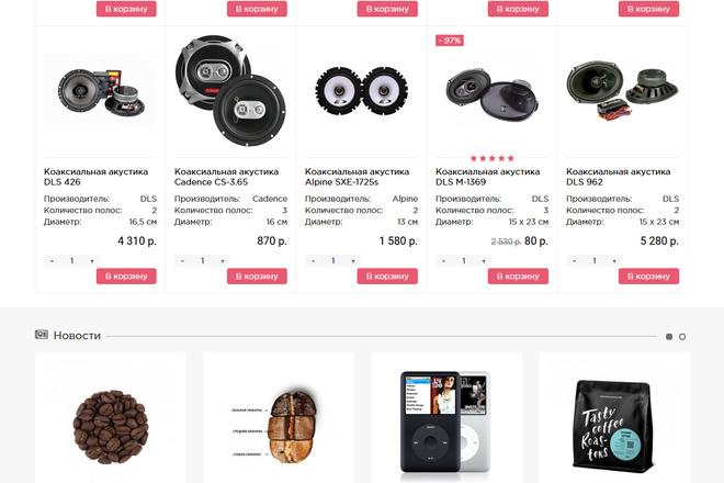 Разверну интернет-магазин на OpenCart OcStore+ установлю к нему шаблон 20 - kwork.ru