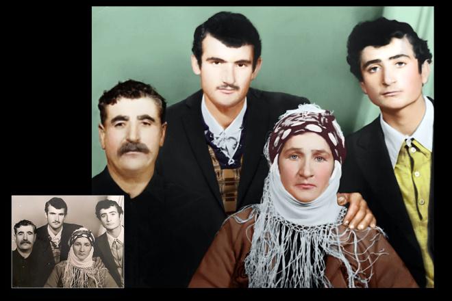 Реставрация старых фото 3 - kwork.ru