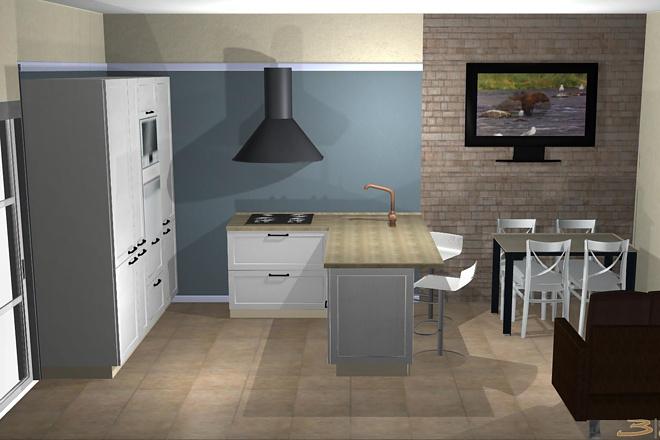 Создам 3D дизайн-проект кухни вашей мечты 18 - kwork.ru