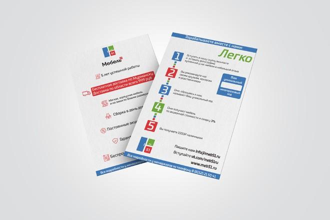 Разработаю макет визитки 14 - kwork.ru
