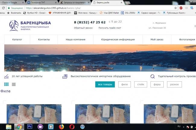 Адаптивная верстка страницы сайта 11 - kwork.ru