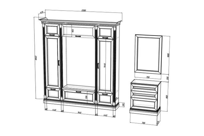 Проект корпусной мебели, кухни. Визуализация мебели 33 - kwork.ru