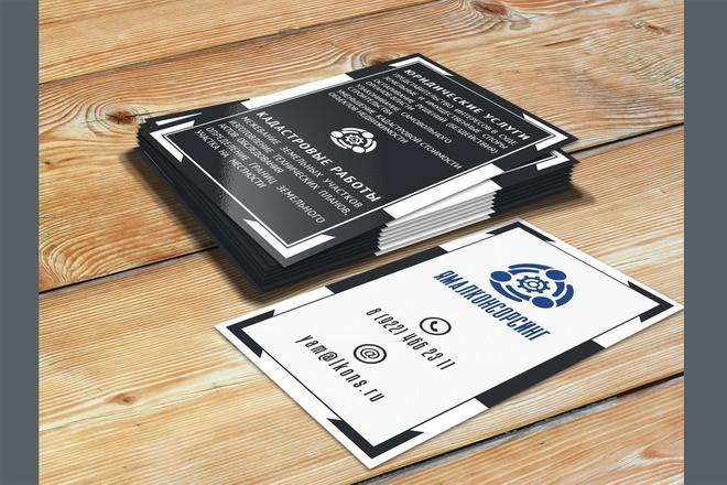 Сделаю дизайн визитки 56 - kwork.ru
