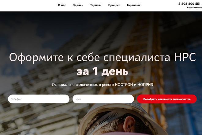 Создание современного лендинга на конструкторе Тильда 71 - kwork.ru