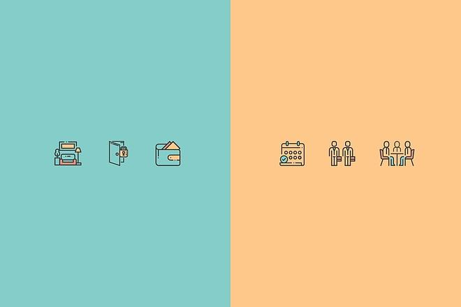 Создам 5 иконок в любом стиле, для лендинга, сайта или приложения 51 - kwork.ru