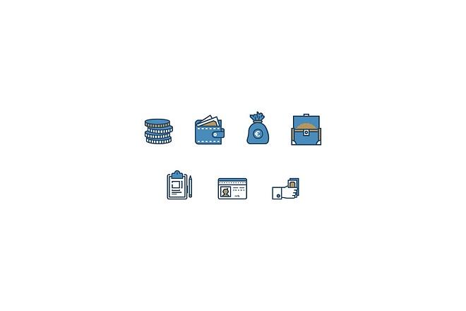 Создам 5 иконок в любом стиле, для лендинга, сайта или приложения 46 - kwork.ru