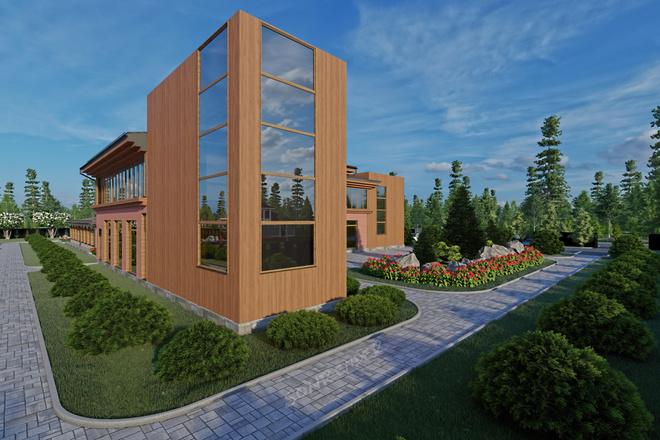 Фотореалистичная 3D визуализация экстерьера Вашего дома 62 - kwork.ru