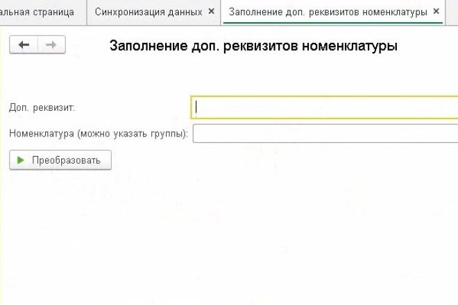 Напишу обработку или отчет 1C 21 - kwork.ru