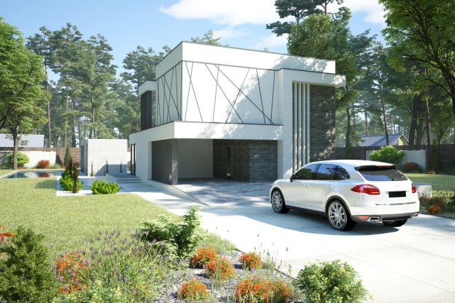 Качественная 3D визуализация фасадов домов 4 - kwork.ru
