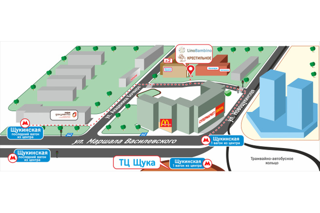 Карты и схемы проезда 1 - kwork.ru