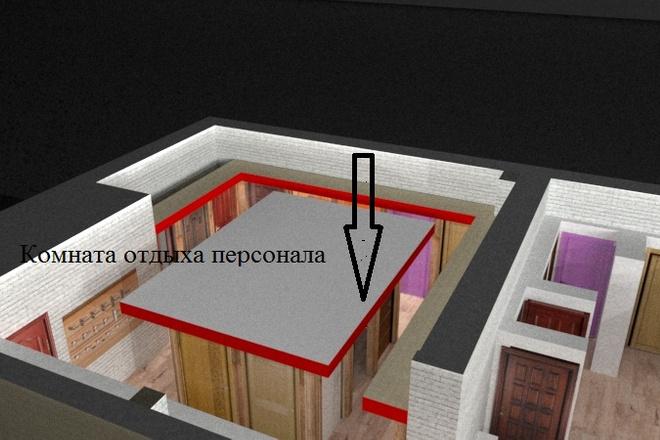 Дизайн придомовой территории в восточном стиле с воротами Тории 6 - kwork.ru