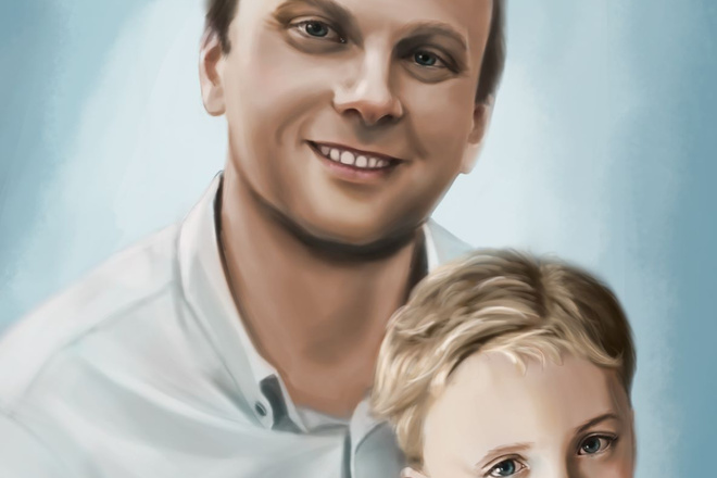 Рисую цифровые портреты по фото 1 - kwork.ru