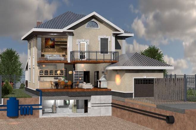 Создам планировку дома, квартиры с мебелью 36 - kwork.ru