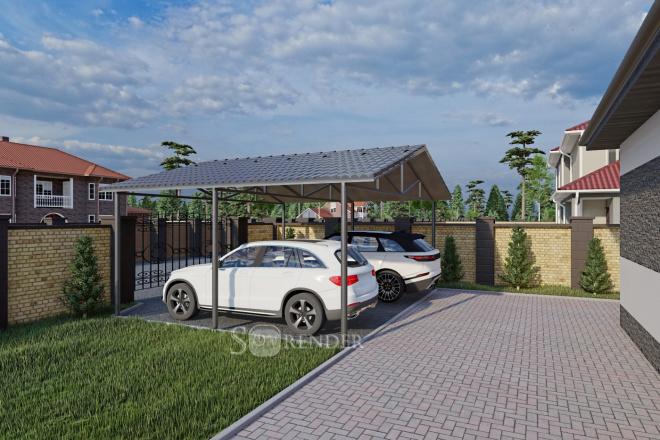 Фотореалистичная 3D визуализация экстерьера Вашего дома 47 - kwork.ru