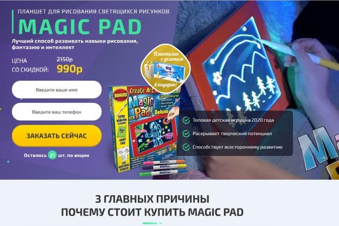 Копии двух лендингов из каталогов товарных CPA за 500 рублей 10 - kwork.ru