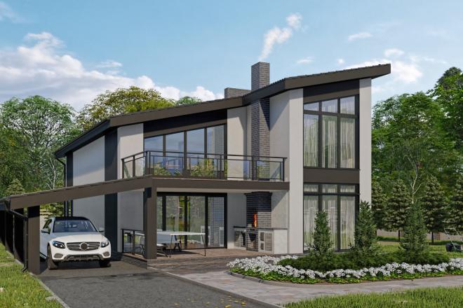 Фотореалистичная 3D визуализация экстерьера Вашего дома 22 - kwork.ru
