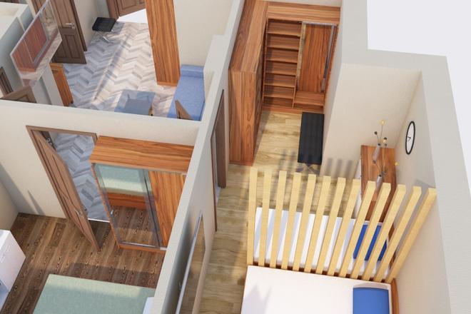 Создам планировку дома, квартиры с мебелью 7 - kwork.ru