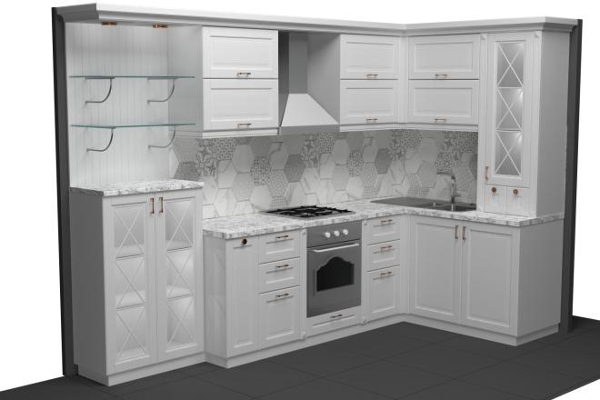 Фотореалистичная визуализация кухни 2 - kwork.ru