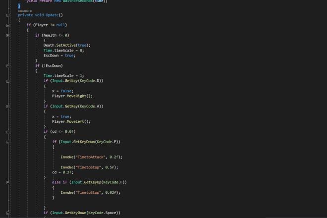 С# скрипт для игры на Unity 4 - kwork.ru