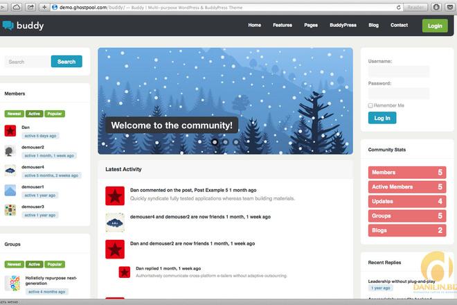 Тема BuddyPress для WordPress на русском с обновлениями 5 - kwork.ru