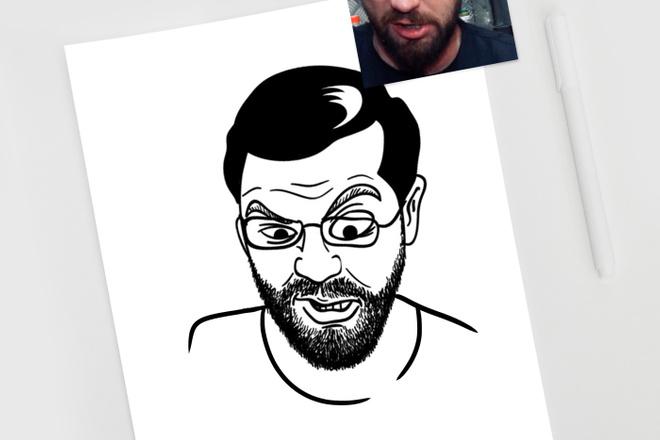 Нарисую простую иллюстрацию в жанре карикатуры 12 - kwork.ru
